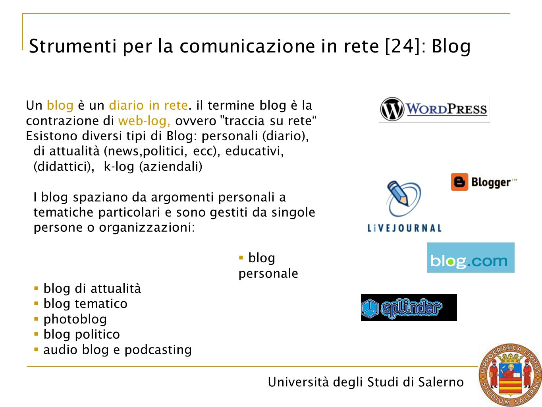 Strumenti per la comunicazione in rete [24]: Blog